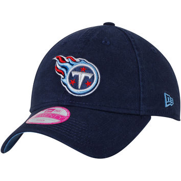 Women's New Era Navy Tennessee Titans Preferred Pick 9TWENTY Adjustable Hat