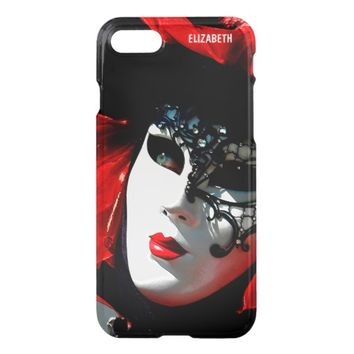 Venice Carnival Colorful Traditional Red Mask iPhone 7 Case