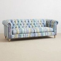 Printed Lyre Chesterfield Sofa by Anthropologie Multi One Size Wall Decor