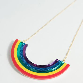 Over It Rainbow Pendant Necklace