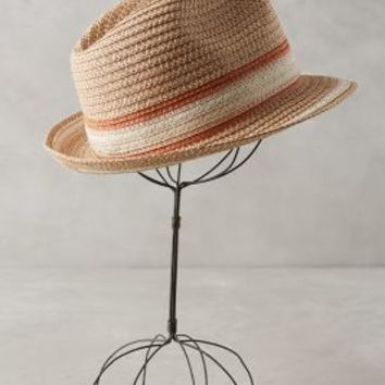 Nevis Fedora by Anthropologie in Neutral Motif Size: One Size Hats
