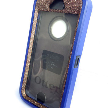 OtterBox Defender Series Case iPhone 5s Glitter Cute Sparkly Bling Defender Series Custom Case Blue / Tiger's eye