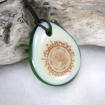 Human Ovum Pendant Necklace, Human Egg Cell, Science Jewelry