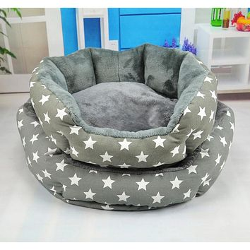NUOYUFAN Printing Soft Velvet Removable Cover Pets Products Pet Cat Dog Beds Sofas Mats Warm Cotton Sleeping Mats Kennel Nest