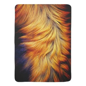 Cool horse tail fur texture trendy design stroller blanket