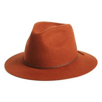 Women's Brixton 'Wesley' Wool Fedora - Orange