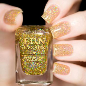 Fun Lacquer Gold Diamond Dust Nail Polish (Holo Topper Collection)