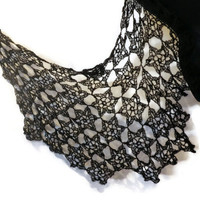 Black star shawl, star of david wrap