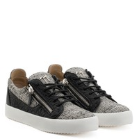 Giuseppe Zanotti Gz Frankie Black And White Fabric Low-top Sneaker