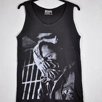 Edward Thomas Tom Hardy face Skull Bane The Dark Knight Rises Women Dark Gray Vest Tank Top