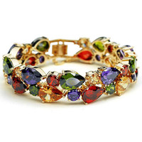 Multicolor Imported Crystal Bracelet for Party