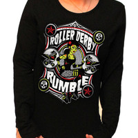 Roller Derby Rumble long sleeve T