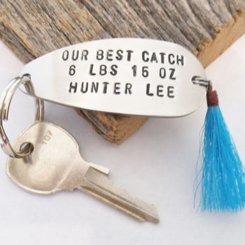 Dad Keychain New Dad Fathers Day Gift from Boy New Daddy Gift Dad Key Chain Father's Day Marine Dad Army Dad Naval Dad Fishing Lure Keychain