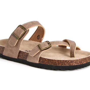 Outwoods Bork Double Strap Sandals for Women in Taupe 21321-734