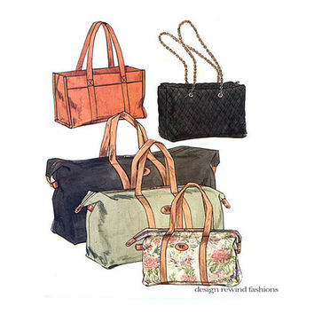 Vogue Overnight Bag Handbag Purse Duffle Pattern Tote Fabric 9763 629