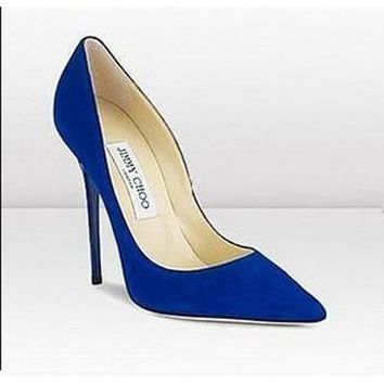 Jimmy Choo Women Fashion Pointed Toe Heels Shoes-2