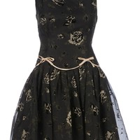 RED VALENTINO floral print flared dress