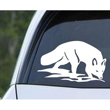 Fox (ver a) Die Cut Vinyl Decal Sticker