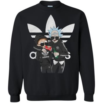 Incredible Rick And Morty Adidas Logo G180 Gildan Crewneck Pullover Sweatshirt  8 oz.