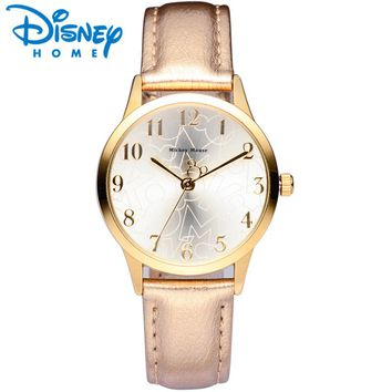 Disney Women Watches Luxury Leather Mickey Mouse Women Watch 2018 Fashion Dress Quartz Wristwatches Women Ladies Watch Genuine