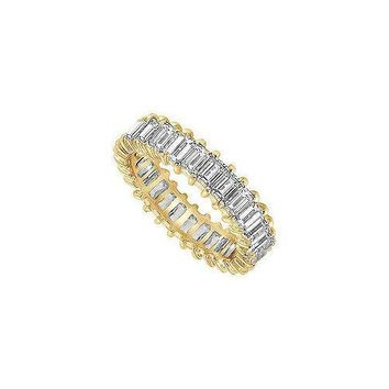 Diamond Eternity Band : 18K Yellow Gold  5.00 CT Diamonds