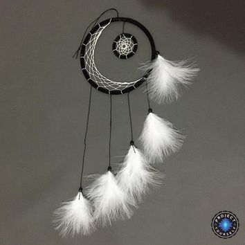 Mystic Crescent Moon Dream Catcher