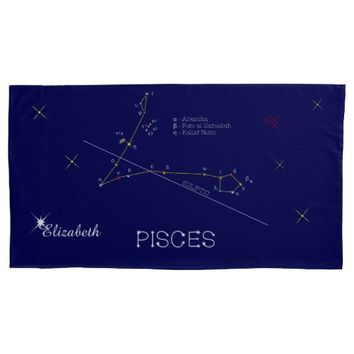 Constellation PISCES unique, brilliant Pillow Case