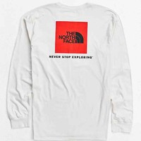 The North Face Box Logo Long-Sleeve Tee