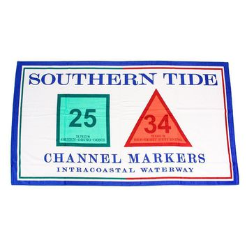Channel Marker Beach Towel in White by Southern Tide