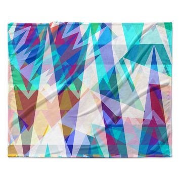 "Miranda Mol ""Triangle Party"" Multicolor Fleece Throw Blanket"