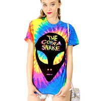 ALIEN ABDUCTION TIE-DYE TEE