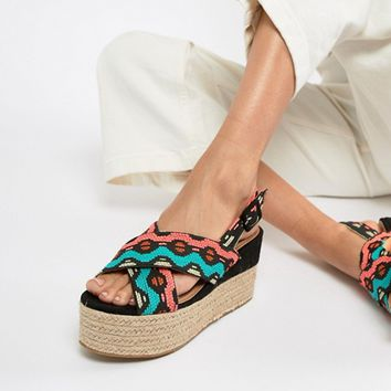 ASOS DESIGN Trio Espadrille Wedge Sandals at asos.com