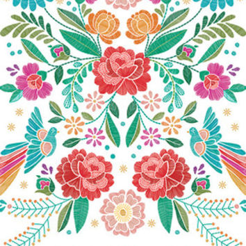 floral stitches - notebook