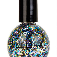 Blue Multi Glitter Nail Polish