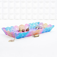 Lace-Cut Trinket Holder in Rainbow - Urban Outfitters