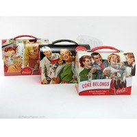 Coke Workman's Carry All Tin Lunch Box Set of 3 Coca-Cola Lunchboxes RetroPlanet.com