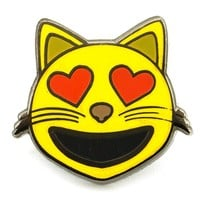Heart Cat Eyes Pin