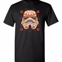 Star Wars Storm Trooper Sugar Skull Day of the Dead Short sleeve t-shirt