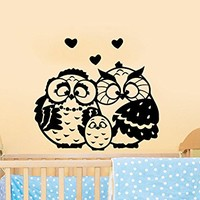 Wall Decals Owls Family Childrens Decor Kids Vinyl Sticker Wall Decal Nursery Baby Room Bedroom Murals Playroom Owl Decor C543