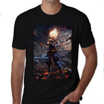 Train Insaiyan Goku's Gym T-Shirt Gold's Gym Vegeta DBZ Dragon Ball Z Tshirt