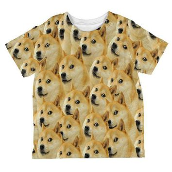 ONETOW Doge Meme All Over Toddler T Shirt