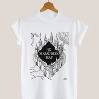 American apparel shirt the marauders map harry potter t shirt mens and woman by KerisPutih Available Size : S,M,L,XL,XXL
