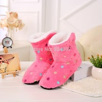 Winter Women Home Slipper Girl Indoor Soft  Slippers Warm Contton House Shoes Plush Pantufa  6 Colors
