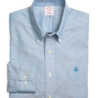 Men's Supima Cotton Regular Fit Non-Iron Solid Oxford Sport Shirt