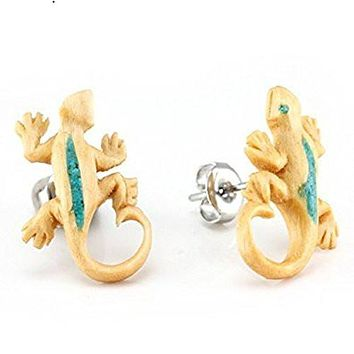 WildKlass Gecko Makerpin Earring Studs