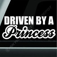 Driven By A Princess Bumper Sticker Vinyl Decal Woman Lady Driver Car Truck JDM