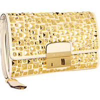 Michael Kors Gia Studded Clutch with Lock