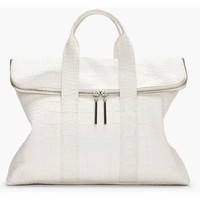 3.1 Phillip Lim 31 Hour Bag In Croc And White — Bib + Tuck