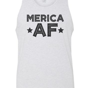 Merica Af Mens Tank Top By Funny Threadz
