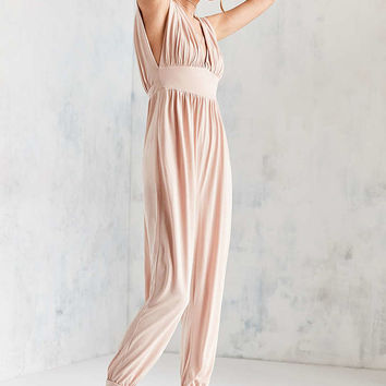 Silence + Noise Diana Empire Waist Cupro Jumpsuit - Urban Outfitters